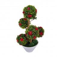 Дерево искусственное Бонсай цветущий 26 см