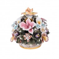 Цветочная композиция из фарфора в вазочке 18х20 см