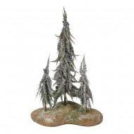 Дерево искусственное Три ёлки в снегу 45 см