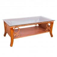 Столик чайный из ротанга 67х62х62 см