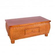 Столик чайный из ротанга 65х53х53 см
