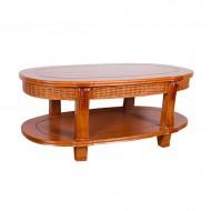 Столик чайный из ротанга 60х58х58 см