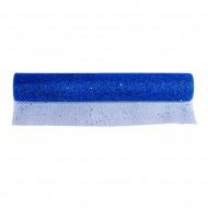 Сетка декоративная упаковочная флористическая Синяя 4х48см 4,5м