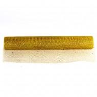 Сетка декоративная упаковочная флористическая Золотая 4х48см 4,5м