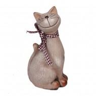 Статуэтка Кот с шарфиком 15х8х5,5 см