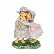Статуэтка Мальчик с девочкой на скамье 18х12х8 см