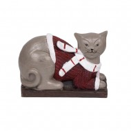 Статуэтка Кот в свитере 17,5х 13х8см.