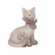 Статуэтка Кот с шарфиком левая 11,5х9х5 см