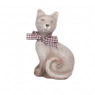 Статуэтка Кот с шарфиком правая 11,5х9х5 см