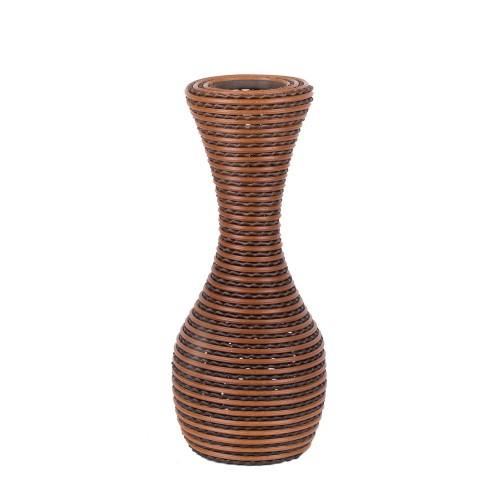 Ваза плетёная декоративная 34 см