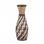 Ваза напольная плетёная декоративная комбинированная 58 см