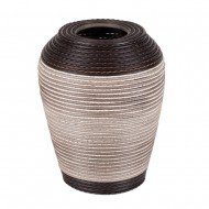Ваза  плетёная декоративная комбинированная 35 см