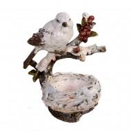 Статуэтка Птичка с гнездом 20х17х14см