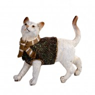 Статуэтка Кот в свитере 14х15х5см