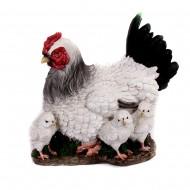 Статуэтка Курочка с цыплятами 24х28х19см