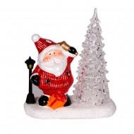 Ёлка с Санта Клаусом 19х16х8см