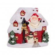 Домик с Санта Клаусом 23х26х13см