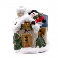 Домик с Санта Клаусом 7,5х6х9 см