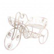 Подставка для цветов Велосипед белый 34х56х21 см