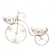 Украшение настенное Велосипед белый 40х52х11 см