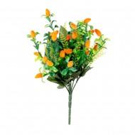 Букет искусственный зелень с цветами 32см