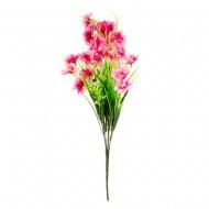 Букет из розовых искусственных цветов 40 см