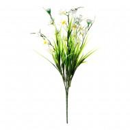 Букет из искусственных цветов  зелень с цветами 35 см