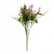 Зелень искусственная с цветами 32 см