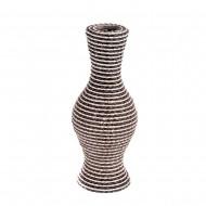 Ваза плетёная декоративная 34х8 см