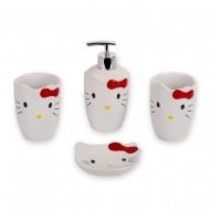 Набор аксессуаров для ванной Кошка 4 предмета