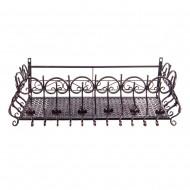Короб балконный подвесной металлический 80х31х29 см