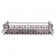Короб балконный подвесной металлический 120х31х29 см