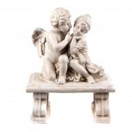 Статуэтка садовая Ангелочек с девочкой 35х45 см
