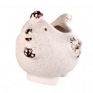 Горшочек керамический в форме птицы 14х11 см