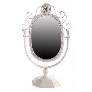 Зеркало белое настольное 40 см