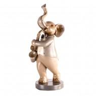 Статуэтка Слоник-музыкант с саксофоном 14,5х13х36 см