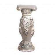 Подставка-колонна для вазы белая Виноград  35х35х80 см