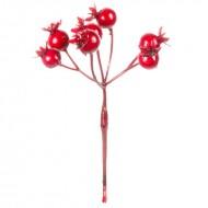 Искусственная гроздь шиповника 14 см