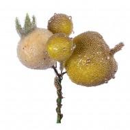Искуственные зеленые Яблочки во льду 3 см