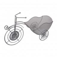 Подставка для цветов Велосипед белая 46х15,5х16 см