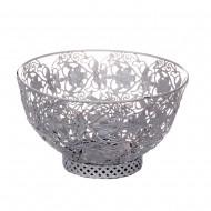 Ажурная белая чаша для фруктов  19,5х11,5 см