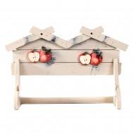 Вешалка настенная декоративная Яблочки 35х23х9 см