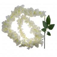 Цветок искусственный Глициния белая 120 см