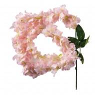 Цветок искусственный Глициния розовая 120 см