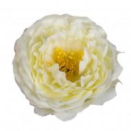 Искусственная головка розы «кремовая»  9 см