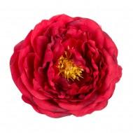 Искусственная головка розы «темно-красная»  9 см