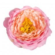 Искусственная головка розы «розовая»  9 см