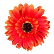 Искусственная головка Герберы «оранжевая»  10 см