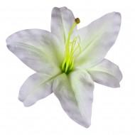 Искусственная головка Лилии «Белая» 18 см