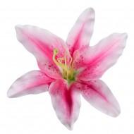 Искусственная головка Лилии «Светло-розовая» 18 см